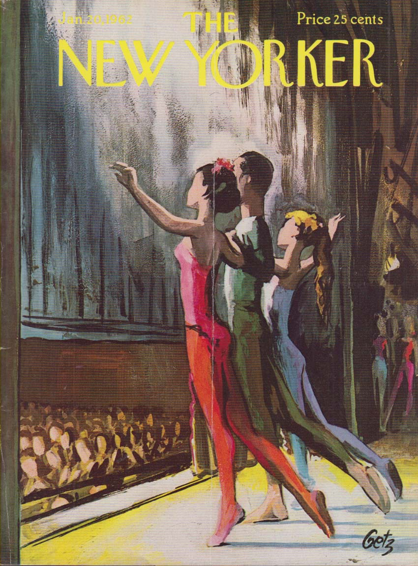 New Yorker cover Getz ballet curtain call 1/20 1962