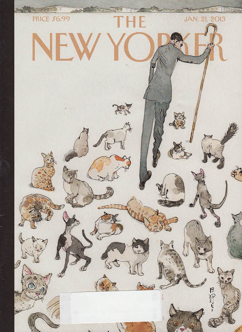 New Yorker cover 1/21 2013 Blitt: Obama (?) herding cats