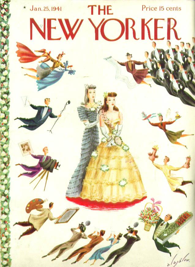 New Yorker cover Alajalov starlet comes to fame 1/25 1941
