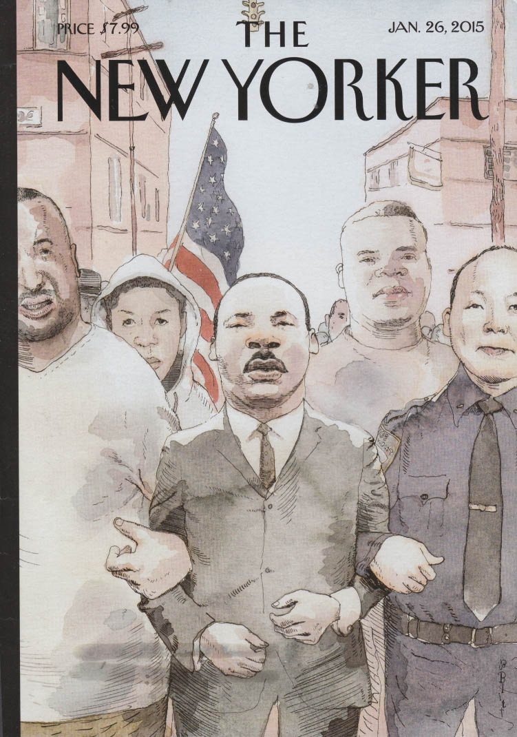 New Yorker cover 1/26 2015 Martin Luther King Jr marches for peace