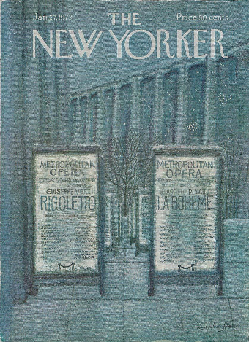 New Yorker cover Allen Metropolitan Opera 1/27 1973