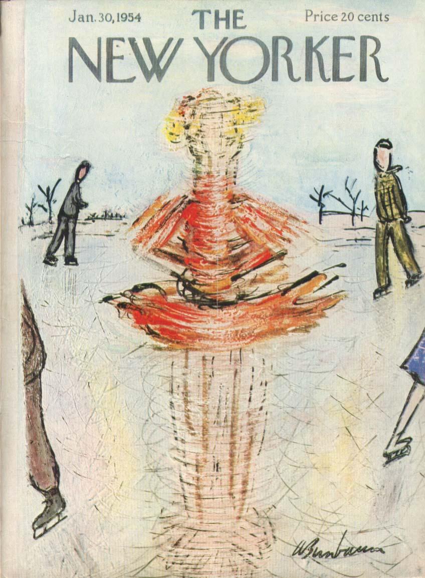 New Yorker cover Birnbaum spinning ice skater 1/30 1954