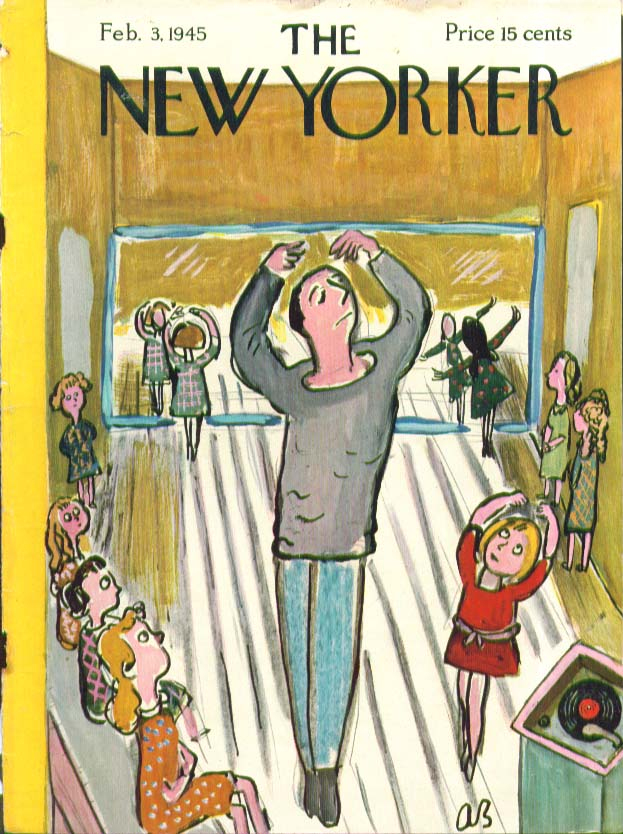 New Yorker cover Birnbaum little girls ballet 2/3 1945