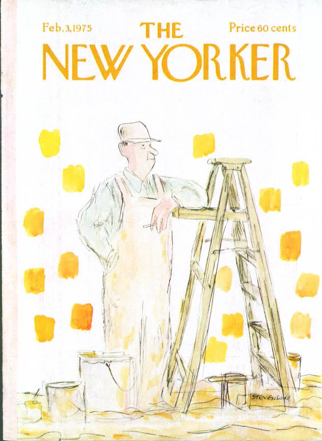 New Yorker cover Stevenson yellow painter 2/3 1975