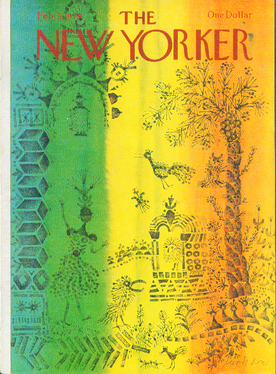 New Yorker cover Low tropical rubber stamp 2/5 1979