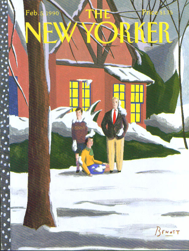 New Yorker cover Benoit frozen suburbanites 2/5 1990