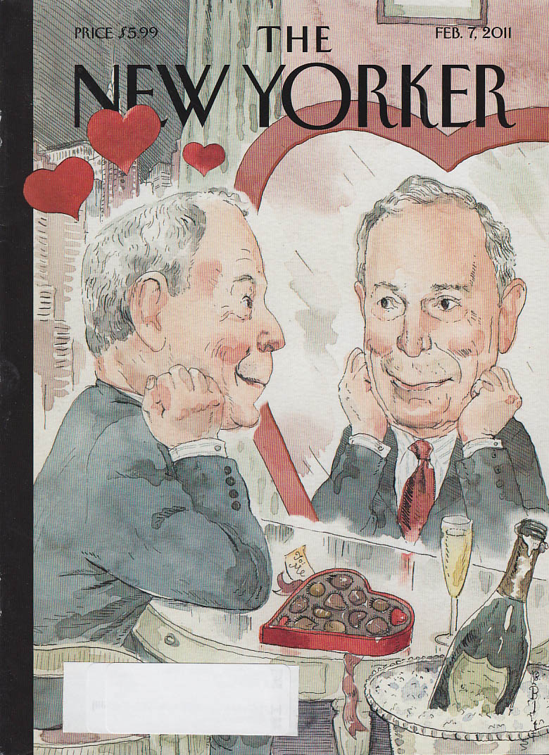 New Yorker cover 2/7 2011: Blitt: Mayor Bloomberg likes his mirror image