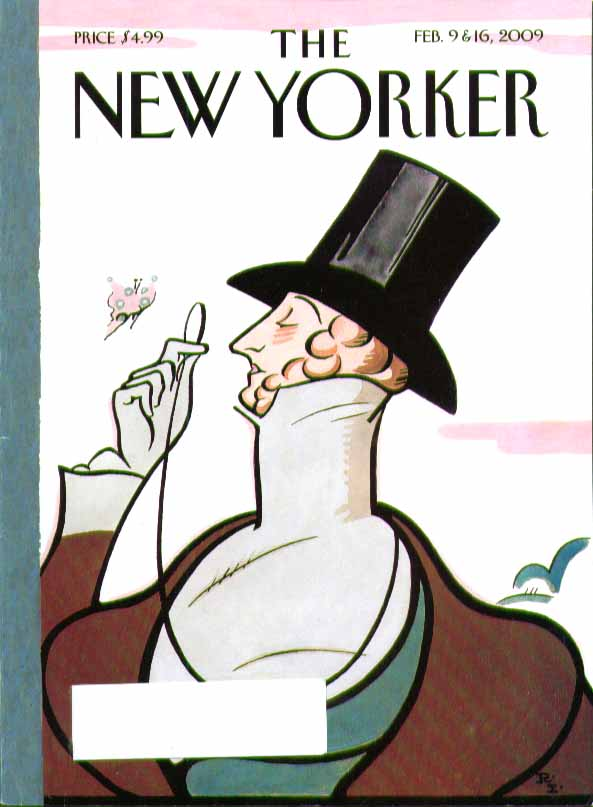 New Yorker cover Rea Irvin Eustace Tilley 2/9 & 2/16 2009