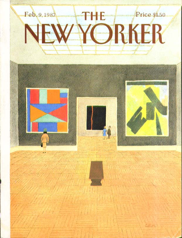 New Yorker cover CEM abstract art gallery visitors 2/9 1987