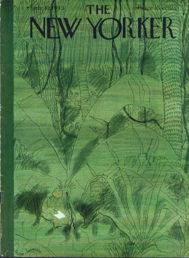 New Yorker cover Duvoisin GI writes home 2/10 1945