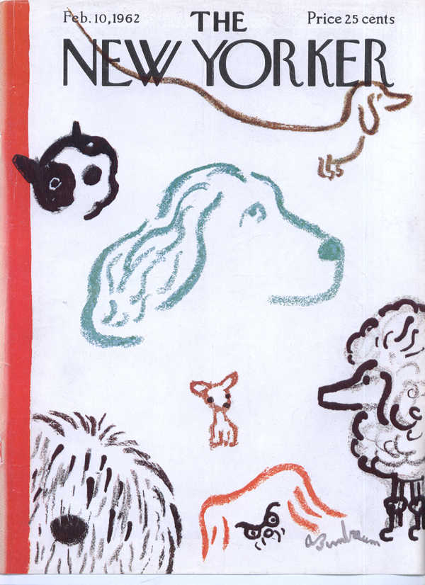 New Yorker cover Birnbaum dog show 2/10 1962
