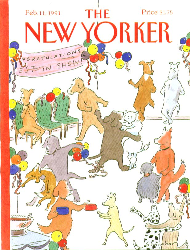 New Yorker cover Shanahan Dog Show Dance 2/11 1991