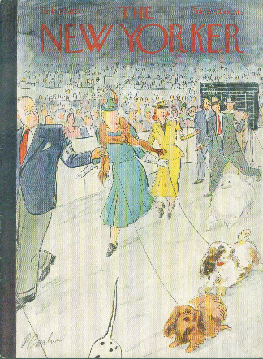 New Yorker cover Barlow dog show 2/12 1955