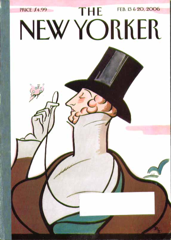 Image for New Yorker cover Rea Irvin Eustace Tilley 2/13 & 2/20 2006