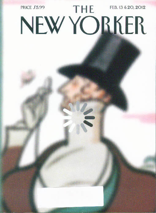 New Yorker cover Rea Irvin Eustace Tilley coming into focus 2/13-20 2012