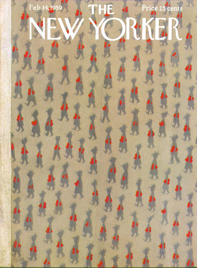 New Yorker cover Martin Valentines & men 2/14 1959