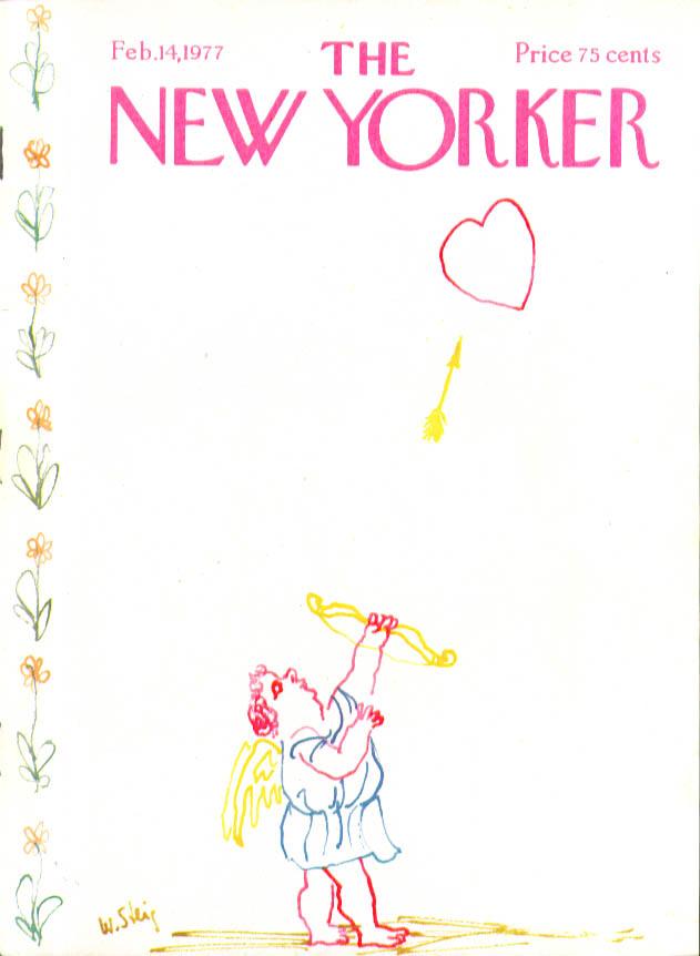 New Yorker cover Steig Valentine cupid heart 2/14 1977