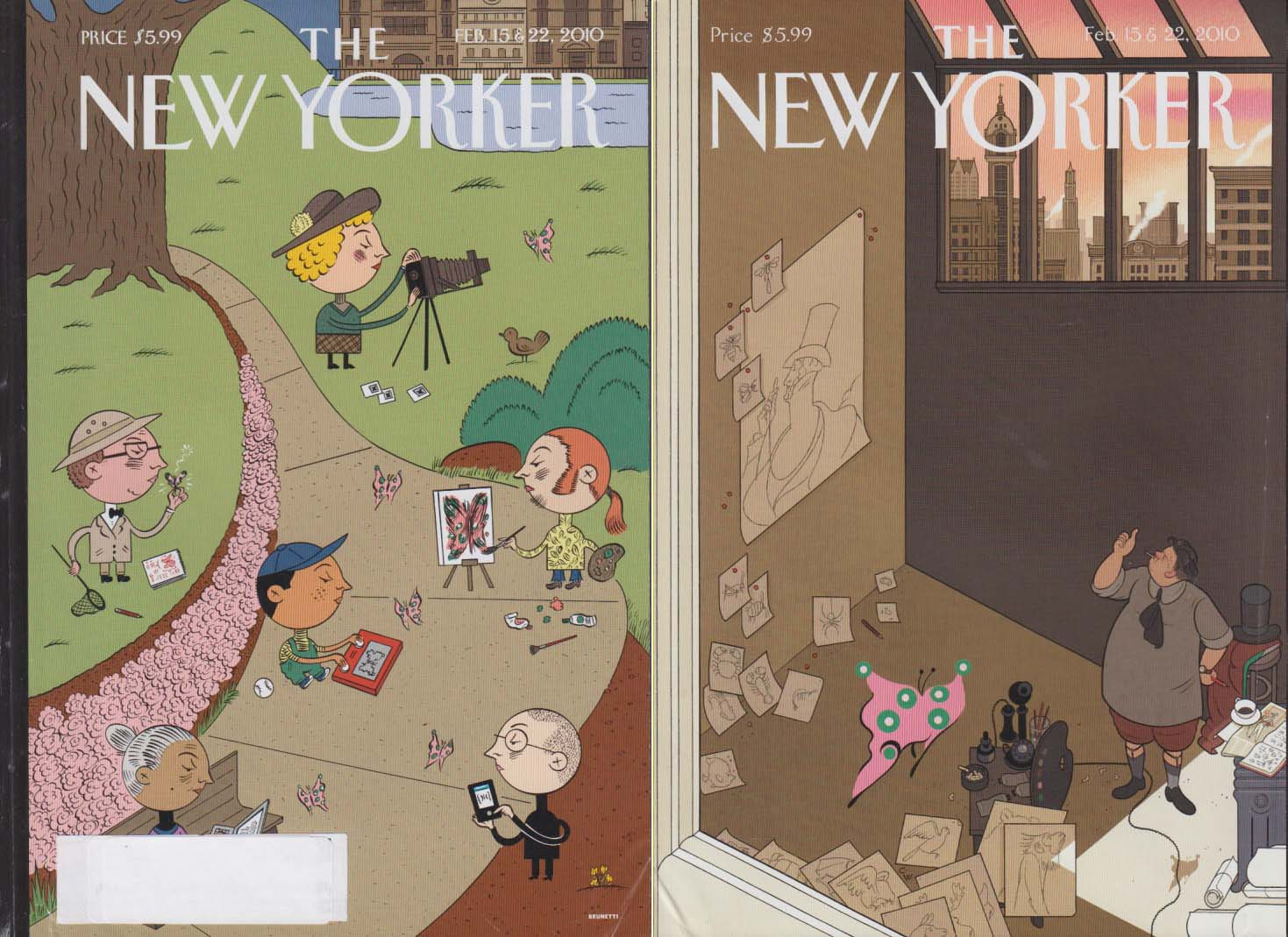 New Yorker cover Brunetti / CW double cover 2/15 2010