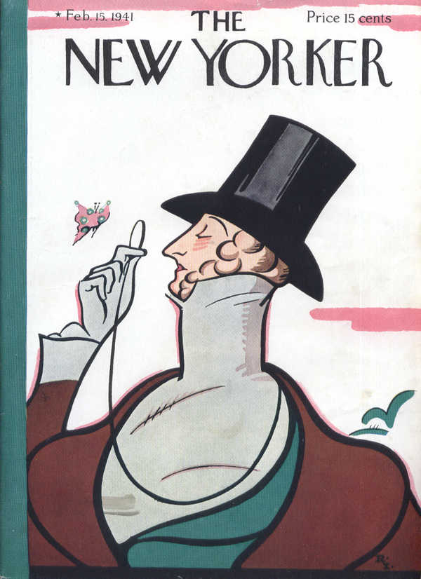 New Yorker cover Irvin Eustace Tilley 2/15 1941