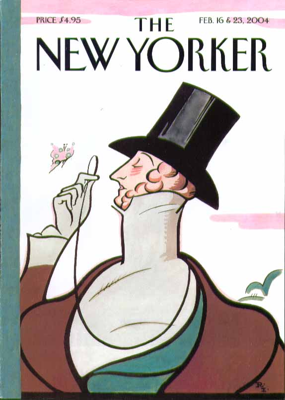 Image for New Yorker cover Rea Irvin Eustace Tilley 2/16 & 2/23 2004