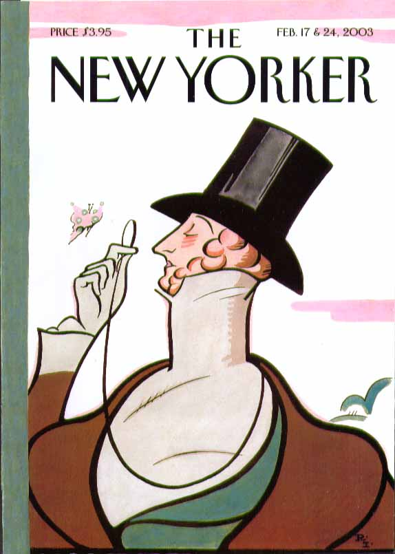 New Yorker cover Rea Irvin Eustace Tilley 2/17 & 2/24 2003