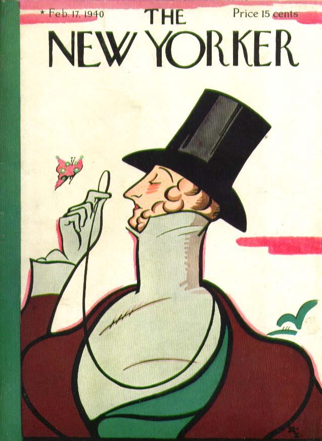 New Yorker cover Irvin Eustace Tilley 2/17 1940