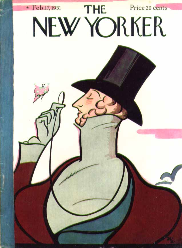 New Yorker cover Irvin Eustace Tilley 2/17 1951
