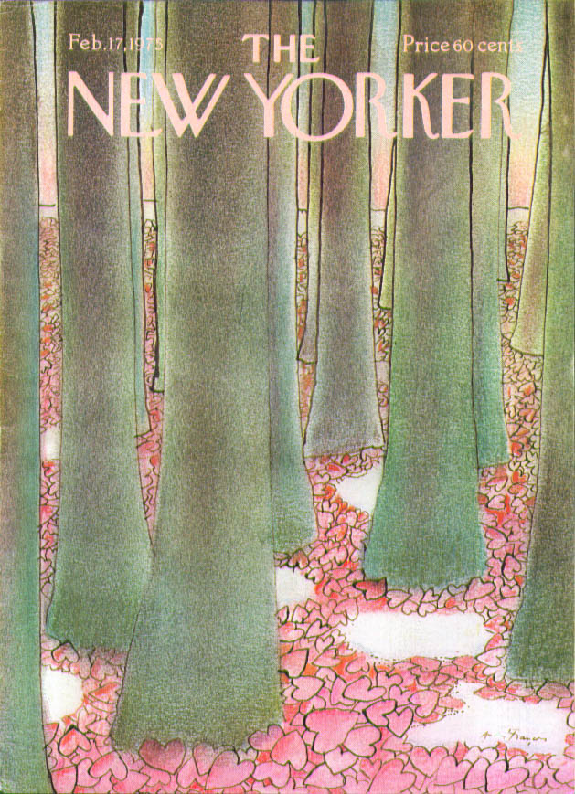 New Yorker cover Francois Valentine forest 2/17 1975