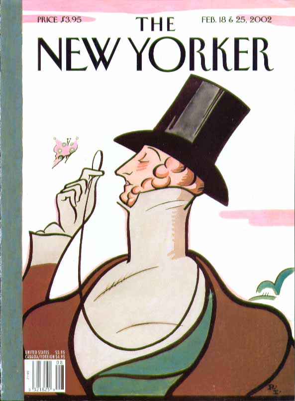 New Yorker cover Rea Irvin Eustace Tilley 2/18 & 2/25 2002