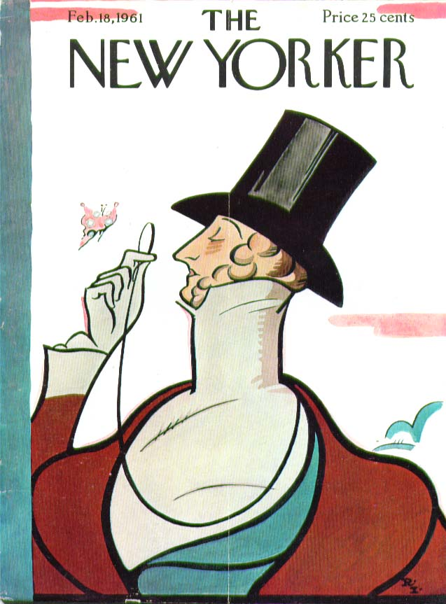 Image for New Yorker cover Irvin Eustace Tilley 2/18 1961