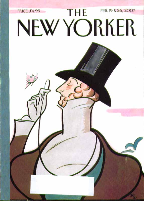 New Yorker cover Rea Irvin Eustace Tilley 2/19 & 2/26 2007