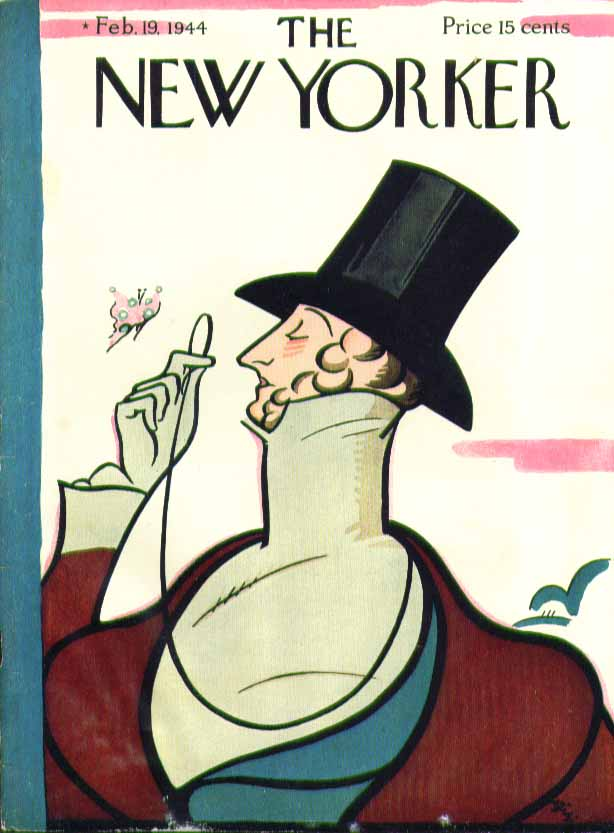 New Yorker cover Irvin Eustace Tilley 2/19 1944