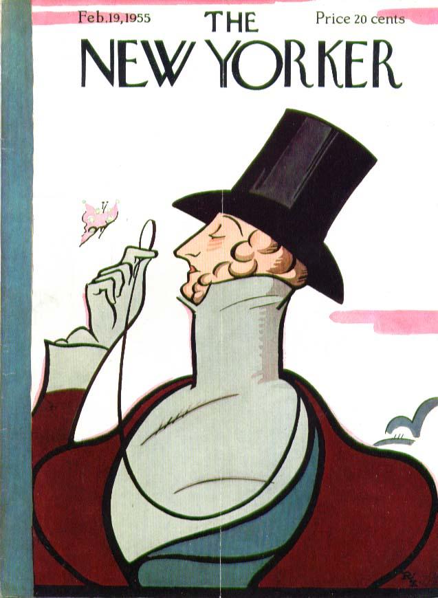 New Yorker cover Irvin Eustace Tilley 2/19 1955