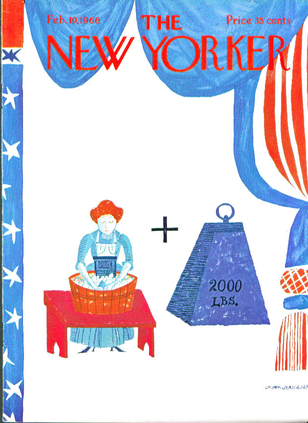 New Yorker cover Allen G Washington rebus 2/19 1966
