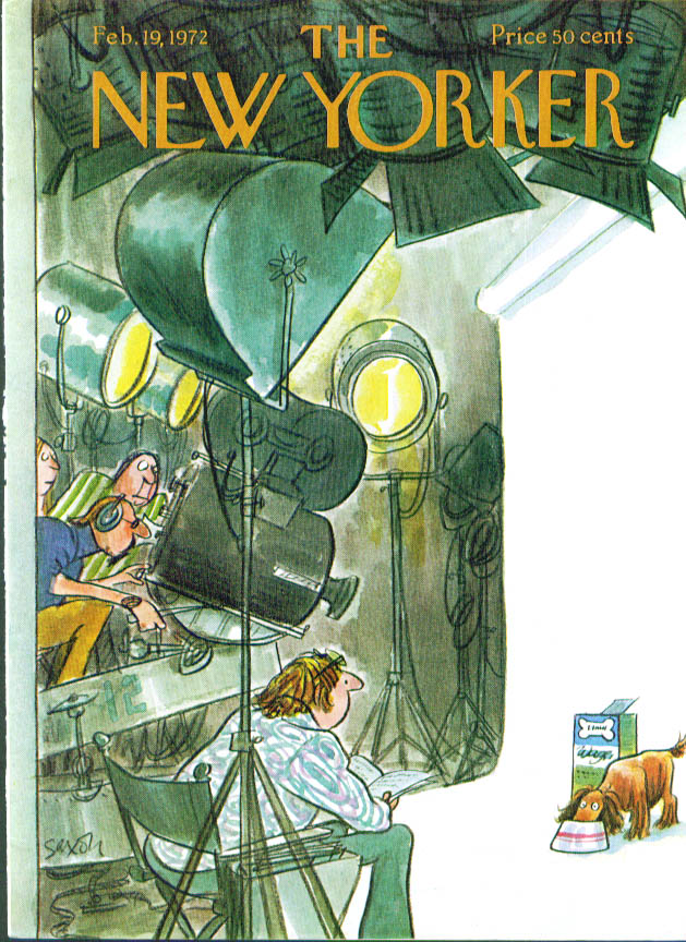 New Yorker cover Saxon dogfood commercial 2/19 1972