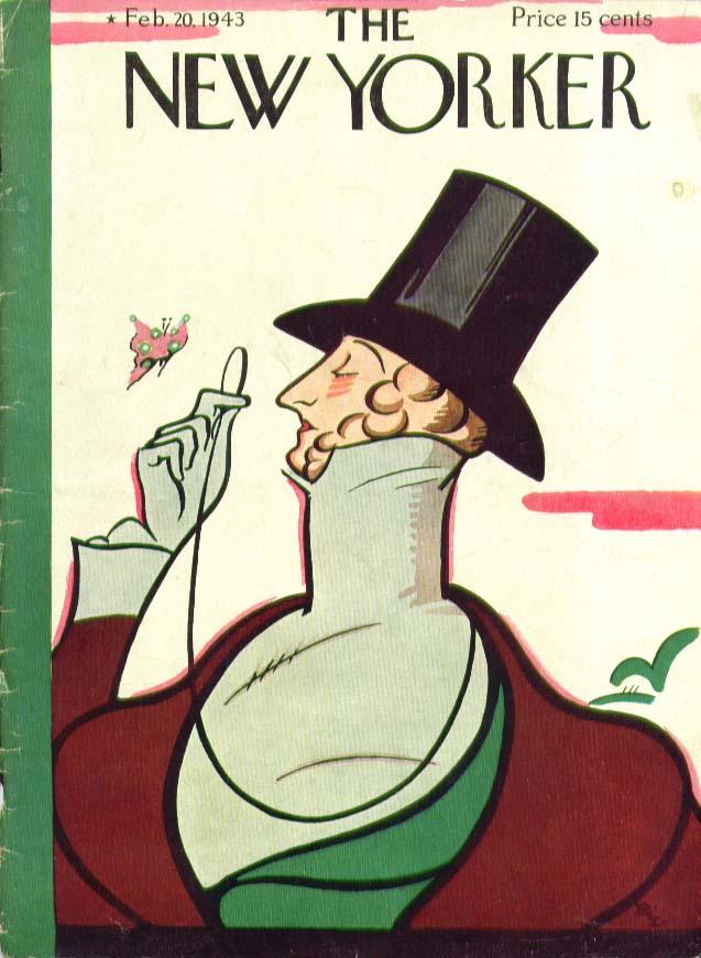 New Yorker cover Irvin Eustace Tilley 2/20 1943
