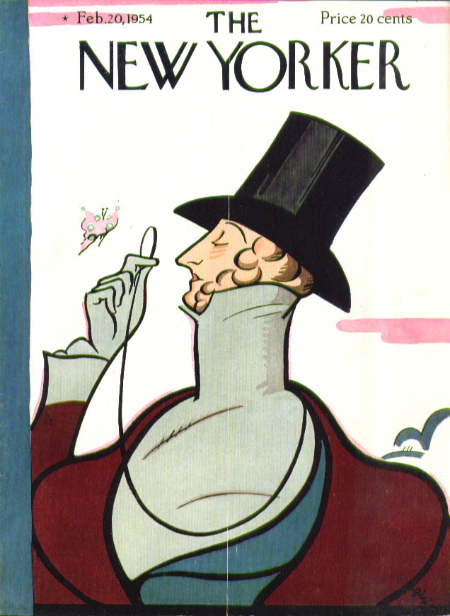 New Yorker cover Irvin Eustace Tilley 2/20 1954