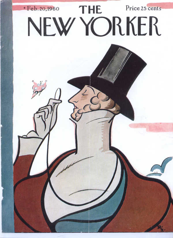 New Yorker cover Irvin Eustace Tilley 2/20 1960