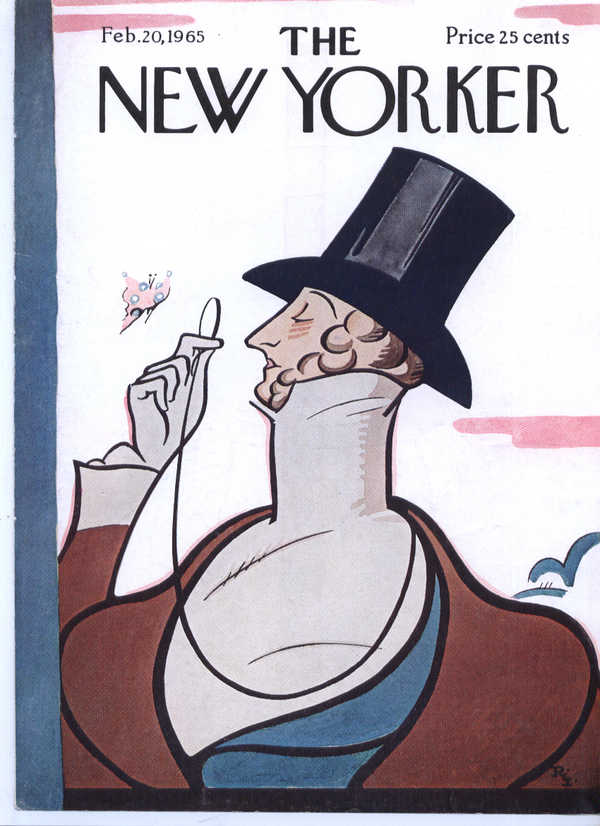 Image for New Yorker cover Irvin Eustace Tilley 2/20 1965