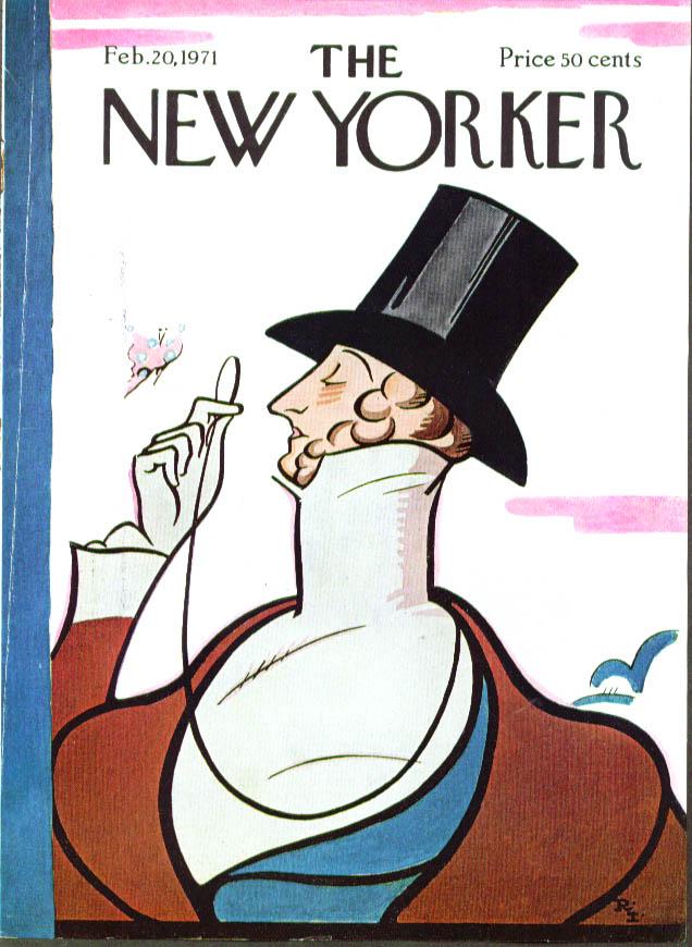 New Yorker cover Irvin Eustace Tilley 2/20 1971