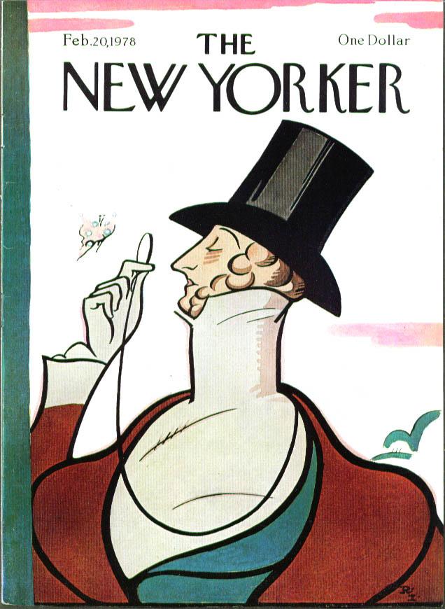 New Yorker cover Irvin Eustace Tilley 2/20 1978