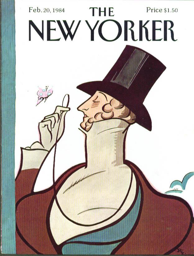 New Yorker cover Irvin Eustace Tilley 2/20 1984