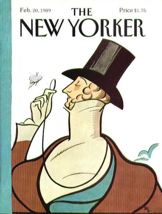 New Yorker cover Rea Irvin Eustace Tilley 2/20 1989