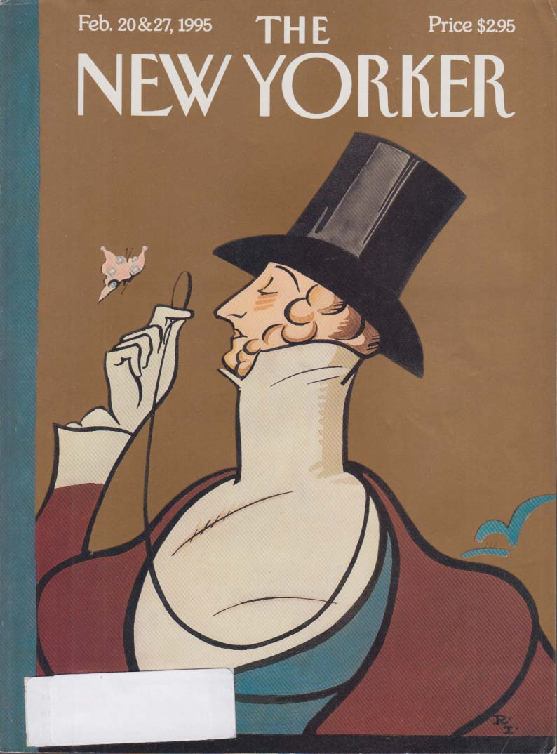 New Yorker cover Rea Irvin Eustace Tilley 2/20 2/27 1995