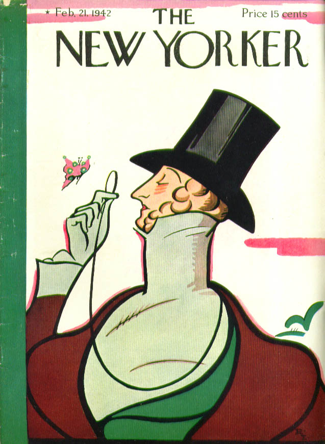 Image for New Yorker cover Irvin Eustace Tilley 2/21 1942