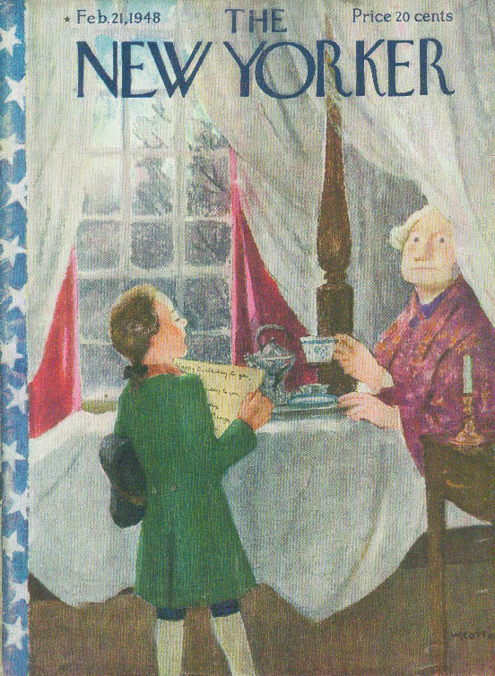 Image for New Yorker cover Cotton Washington's Birthday 2/21 1948