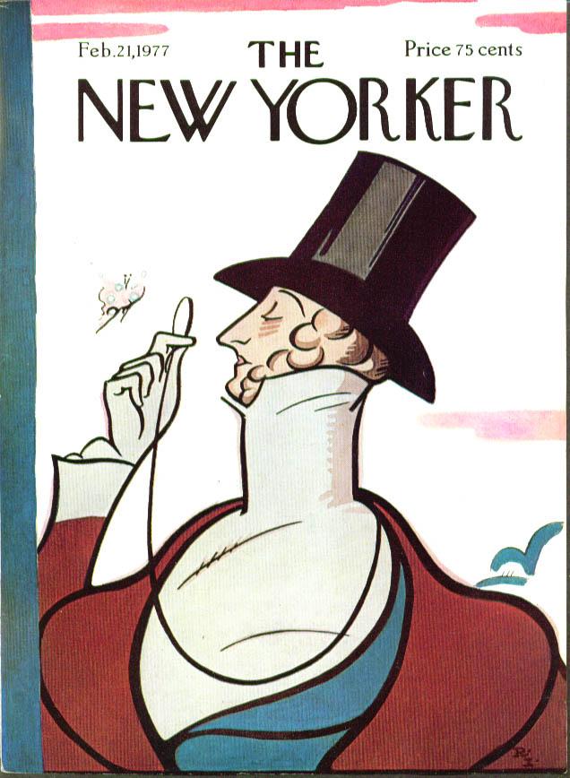 New Yorker cover Irvin Eustace Tilley 2/21 1977
