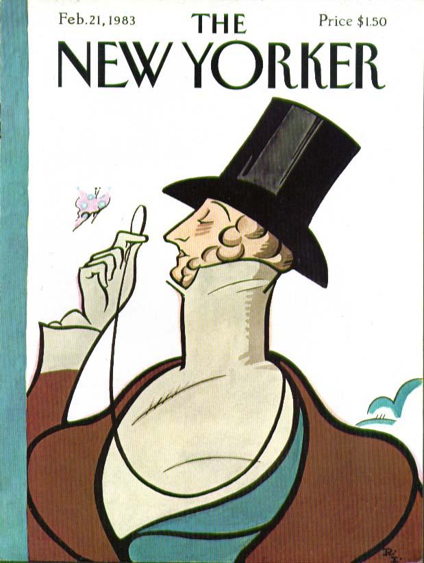New Yorker cover Rea Irvin Eustace Tilley 2/21 1983