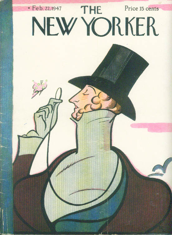Image for New Yorker cover Irvin Eustace Tilley 2/22 1947