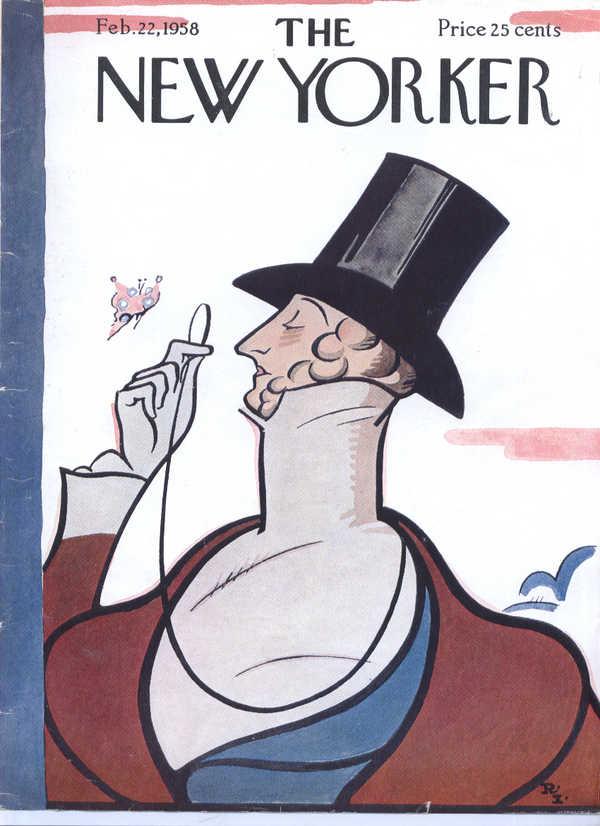 New Yorker cover Irvin Eustace Tilley 2/22 1958
